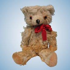 "13"" Long Mohair White Jointed Teddy Bear"