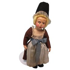 "Small 10"" Lenci Felt Little Girl Mascot Doll"