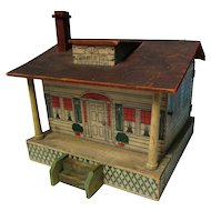 Antique 1910/20's Printed Wood Doll House