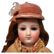 """Antique 16"""" French Fashion Doll w Bisque Arms"""