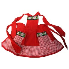 Vintage Child/Large Doll Swiss Red Apron