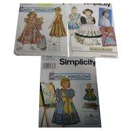 3 Uncut Daisy Kingdom Little Girls/Doll Patterns Lot 2