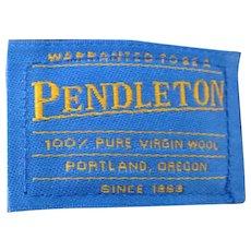 Vintage Plaid Pendleton Stadium Blanket w Tote