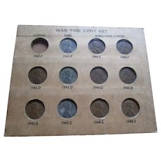 1942-1945 War Time Penny Collection Board