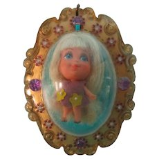 Vintage 1968 Violet Liddle Kiddle Locket Doll