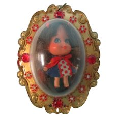 Vintage 1968 Liz Liddle Kiddle Locket Doll