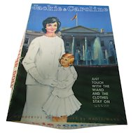 Vintage Jackie & Caroline Kennedy Magic Wand Paper Doll Set