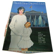 Vintage Jackie & Caroline Kennedy Magic Wand Paper Doll Set