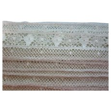 "Vintage 3/4"" Cream French Insertion Lace 8 Y"