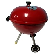 """Real 9"""" Doll Size Weber Red Grill"""