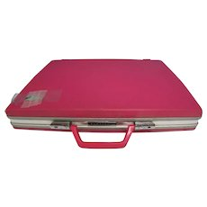 Vintage Samsonite Pink Hard Shell Ladies Briefcase w Key