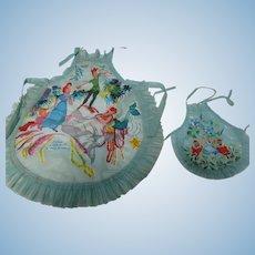 2 Vintage Disney Alice in Wonderland Aprons Child & Dolls