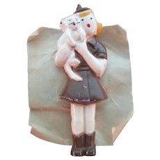 Vintage Lot of 3 Girl Brownie Scout Pins