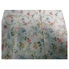Vintage 60's Floral Fabric for Doll Dresses