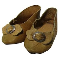 """Antique 3"""" French Fashion Doll Slipper Shoes"""