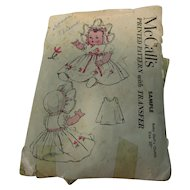 Vintage McCall's Sample Baby Doll Pattern Uncut