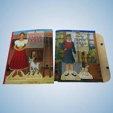 2  Retired American Girls Paper Dolls Uncut Mint