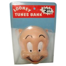 Vintage 1997 Porky Pig Bank NRFP