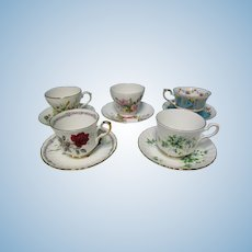 Vintage English Porcelain Tea Cups for Parties