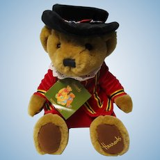 Vintage English Beefeater Harrod's Teddy Bear W Tags