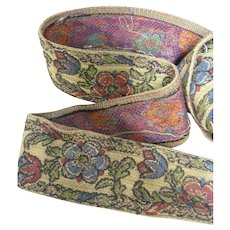 """Vintage 2"""" Wide Woven Upholstery Trim - 6 Yards"""