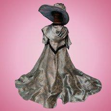 Vintage 1960's Large Doll Dress + Hat TLC