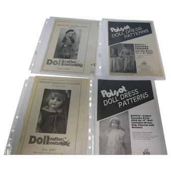 Vintage Lot of 6 Uncut Doll Crafter Doll Dress Patterns #4