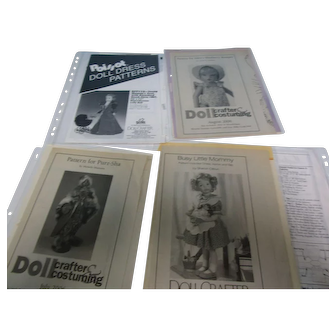 Vintage Lot of 4 Uncut Doll Crafter Doll Dress Patterns #5
