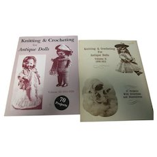 2 Books 1991 Knitting & Crocheting Clothing for Antique Dolls