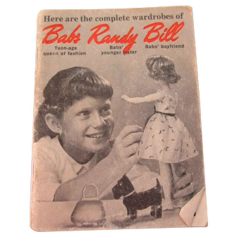 Vintage Babs Randy Bill Dolls Fashion Catalog Booklet