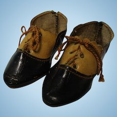 Antique French Two Tone Doll Shoes