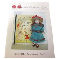 Bleuette Doll Costumer's Guild Booklet HTF