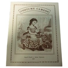 """Costume Cameos 18"""" Antique Doll Dress Pattern Booklet"""