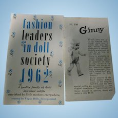 Vintage Lot of 2 Vogue Ginny Doll Booklets