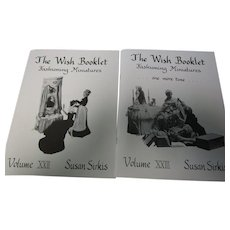 Vintage Lot of 2 Wish Booklets