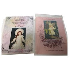 Vintage Lot of 2 French Doll Dress Patterns Uncut