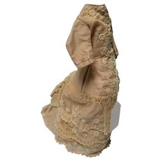 Peachy Tan Lace French Fashion Doll Dress