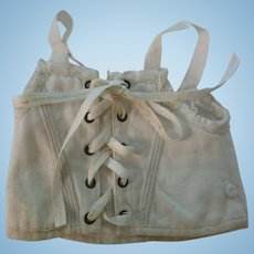 Vintage Small White French Doll Corset