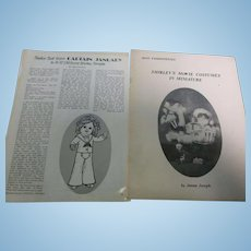 2 Vintage Shirley Temple Doll Dress Pattern Booklet