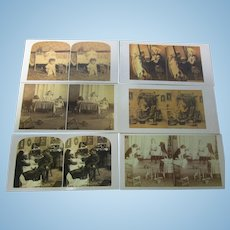 Lot of 6 Theriault's Bidding Stereo Cards