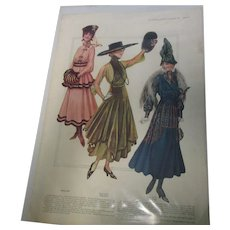 1916 Ladies  Delineator Fashion Magazine Ad Page