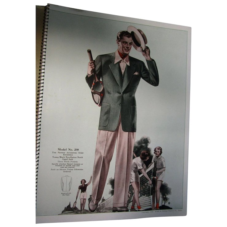 1939 Spring Summer Young Men Fashion Catalog Vgc The Vintage
