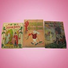 Vintage Lot of 3 Children's Books Peter Rabbit