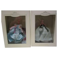 2 Vintage Barbie Hallmark Keepsake Ornaments NRFB