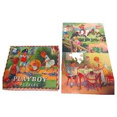 Vintage Playboy Picture Puzzle w Box