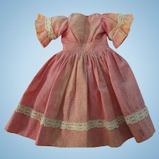 Early  Enfantine Style French Fashion Doll  Dress