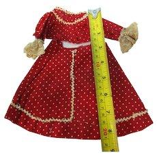 Vintage Small 2 Pc French Fashion Doll Dress Hand Sewn