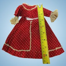 Vintage Small 2 Pc French Fashion Doll Dress Hand Sewn