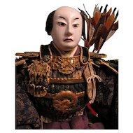 Late Edo Boys Day  Japanese Samurai Ningo Doll
