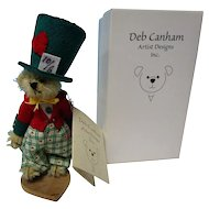 "Deb Canahm 4"" Mad Hatter Bear MIB Tags"